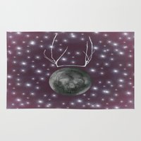 dark side of the moon Area & Throw Rugs featuring Dark Side of the Moon by Helle Gade
