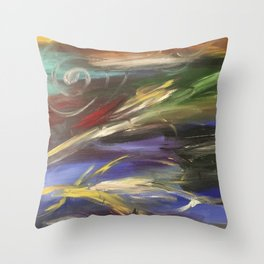 Colors in the Wind Throw Pillow