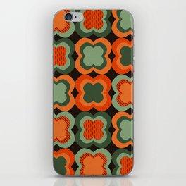 Retro Color Flower Pattern iPhone Skin