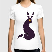 umbreon T-shirts featuring Shiny Umbreon-like cat rabbit fox  by Criminal Crow