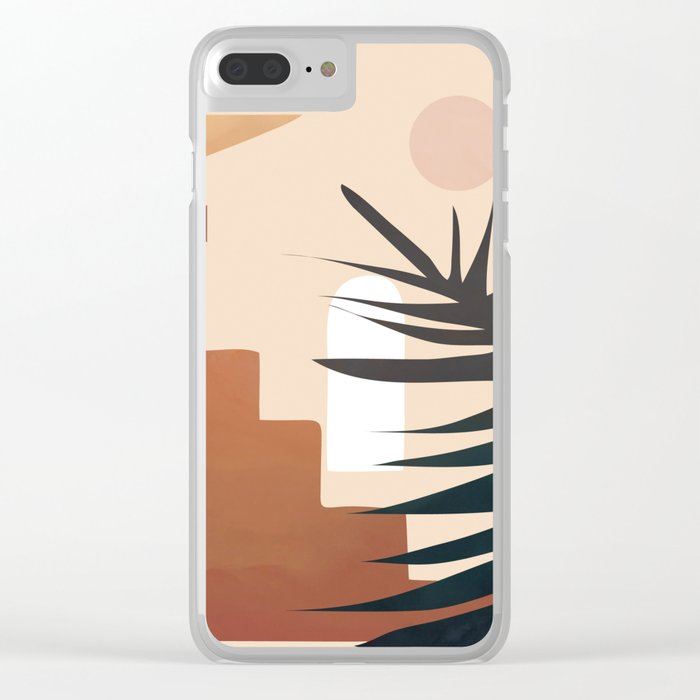 Abstract Elements 19 Clear iPhone Case