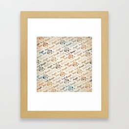 Beagle dog pattern Framed Art Print