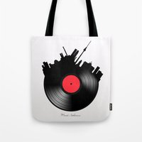 berlin Tote Bags featuring Berlin  by mark ashkenazi