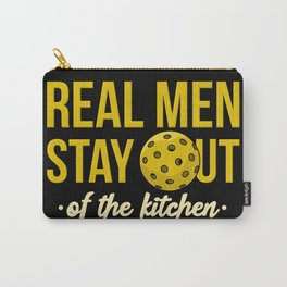 Real Men Stay Out Of The Kitchen For Pickleball Ball Player Carry-All Pouch
