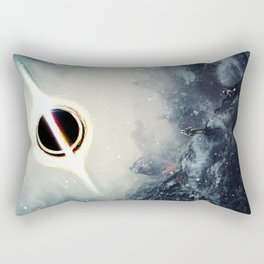 Interstellar Inspired Fictional Sci-Fi Teaser Movie Poster Rectangular Pillow