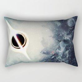 Interstellar Inspired Fictional Sci-Fi Teaser Movie Poster Rectangular Pillow