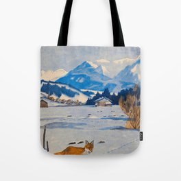 Jugend-Munich illustrated weekly for art and life - 1906 Cold Climate Snow Mountains Fox Tote Bag