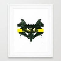 watchmen Framed Art Prints featuring Watchmen 2.0 - Rorschach by Fabio Castro