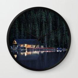 Night at Lake Louise Wall Clock