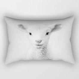 Lamb - Black & White Rectangular Pillow