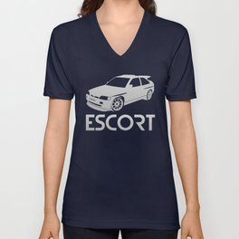 Ford Escort RS Cosworth - silver - Unisex V-Neck