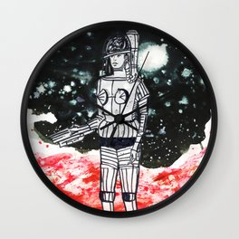 Space Expedition Wall Clock