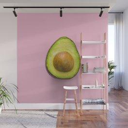 Pink Avocado Wall Mural