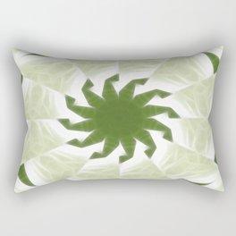 Green White Kaleidoscope Art 1 Rectangular Pillow
