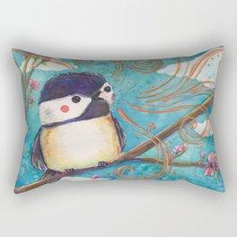 black capped chickadee Rectangular Pillow