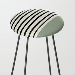 Sage Green x Stripes Counter Stool