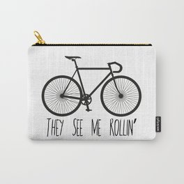 They See Me Rollin' Bicycle - Men's Fixie Fixed Gear Bike Cycling Carry-All Pouch