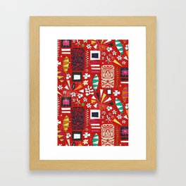 tiki red Framed Art Print