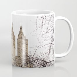 Winter in New York with the view of The San Remo apartment Coffee Mug