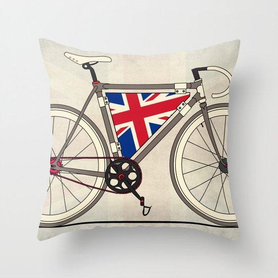 Love Bike, Love Britain Throw Pillow