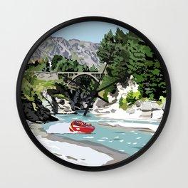 Shotover River, Queenstown, New Zealand Wall Clock