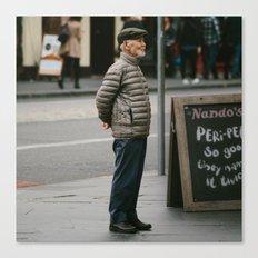 Old Man in Edinburgh Canvas Print
