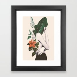 natural beauty-collage 2 Framed Art Print