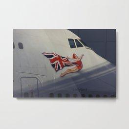 Ladybird 747-400 G-VAST Virgin Atlantic Metal Print