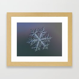 Real snowflake - Hyperion dark Framed Art Print