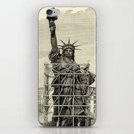 Statue of Liberty Construction Illustration iPhone Skin