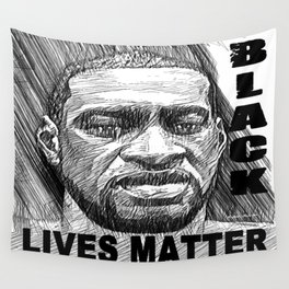 George Floyd - Black Lives Matter Wall Tapestry