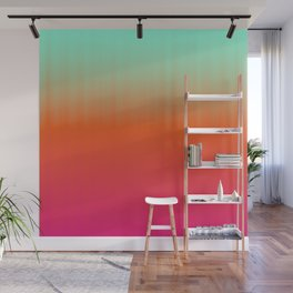 Emerald orange fuchsia gradient Wall Mural