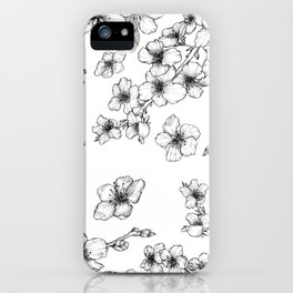 Cherry Blossoms on White iPhone Case