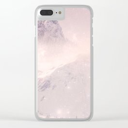 Misty Mountains Clear iPhone Case