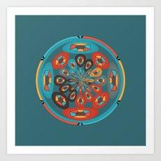 Round geometric design Art Print