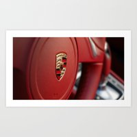 porsche Art Prints featuring Porsche by Grafiko