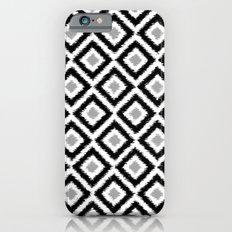 Black and White Diamond Ikat iPhone 6s Slim Case