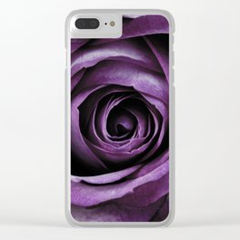 Purple Rose Decorative Flower Clear iPhone Case