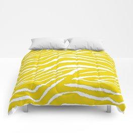 Zebra Golden Yellow Comforters