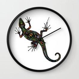 Lézard colors Wall Clock