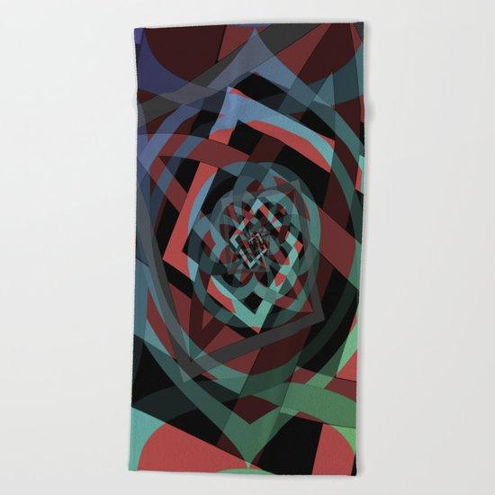 Celtic Droste Pattern Beach Towel