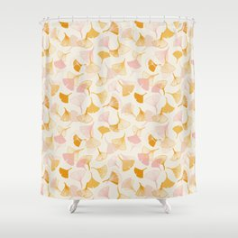 Ginko leaf pattern Shower Curtain