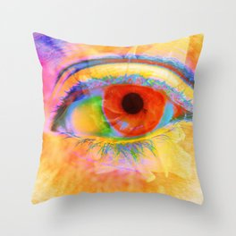 Eye In Bloom Throw Pillow