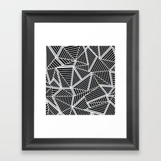 Ab lines Zoom Black and Silver Framed Art Print