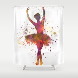 Woman ballerina ballet dancer dancing Shower Curtain
