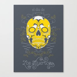 Sugar Skull (Day of the Dead) Canvas Print