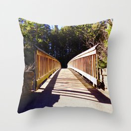 North Conway Bridge Throw Pillow