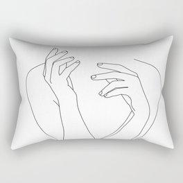 Woman's body line drawing illustration - Dee Rectangular Pillow