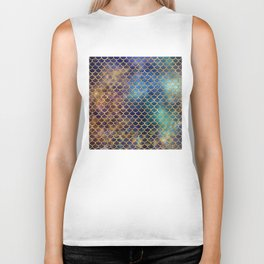 Bedazzled Mermaid Scales Biker Tank