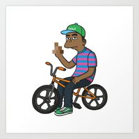 tyler the creator Art Prints featuring TYLER THE CREATOR  by Zhi-Yun